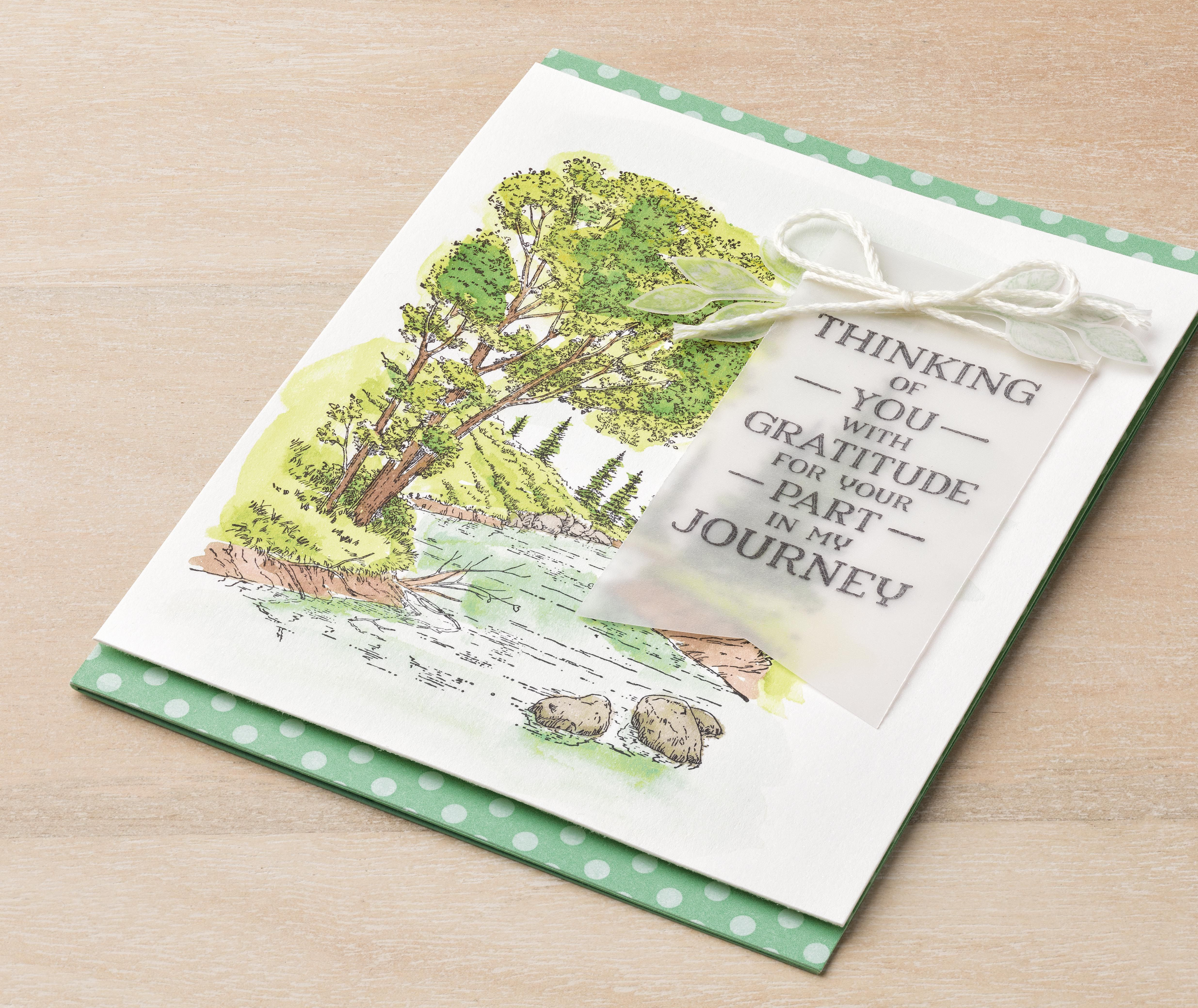 Made using the peaceful place stamp set karten stampin