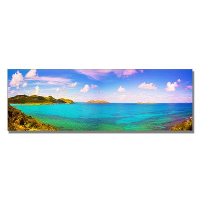 """Trademark Art """"St. Barts"""" by Preston Photographic Print on Wrapped Canvas & Reviews 