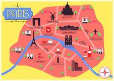 Cartina Politica Di Parigi.Mappa Di Vettore Di Parigi Francia Immagine Stock Libera Da Diritti Idee Per Fotografare Parigi
