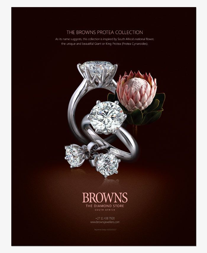 03 Tc Ourthoughts Advertising Browns Protea Jpg 700 855 Diamond Stores Diamond Are A Girls Best Friend Beautiful Jewelry