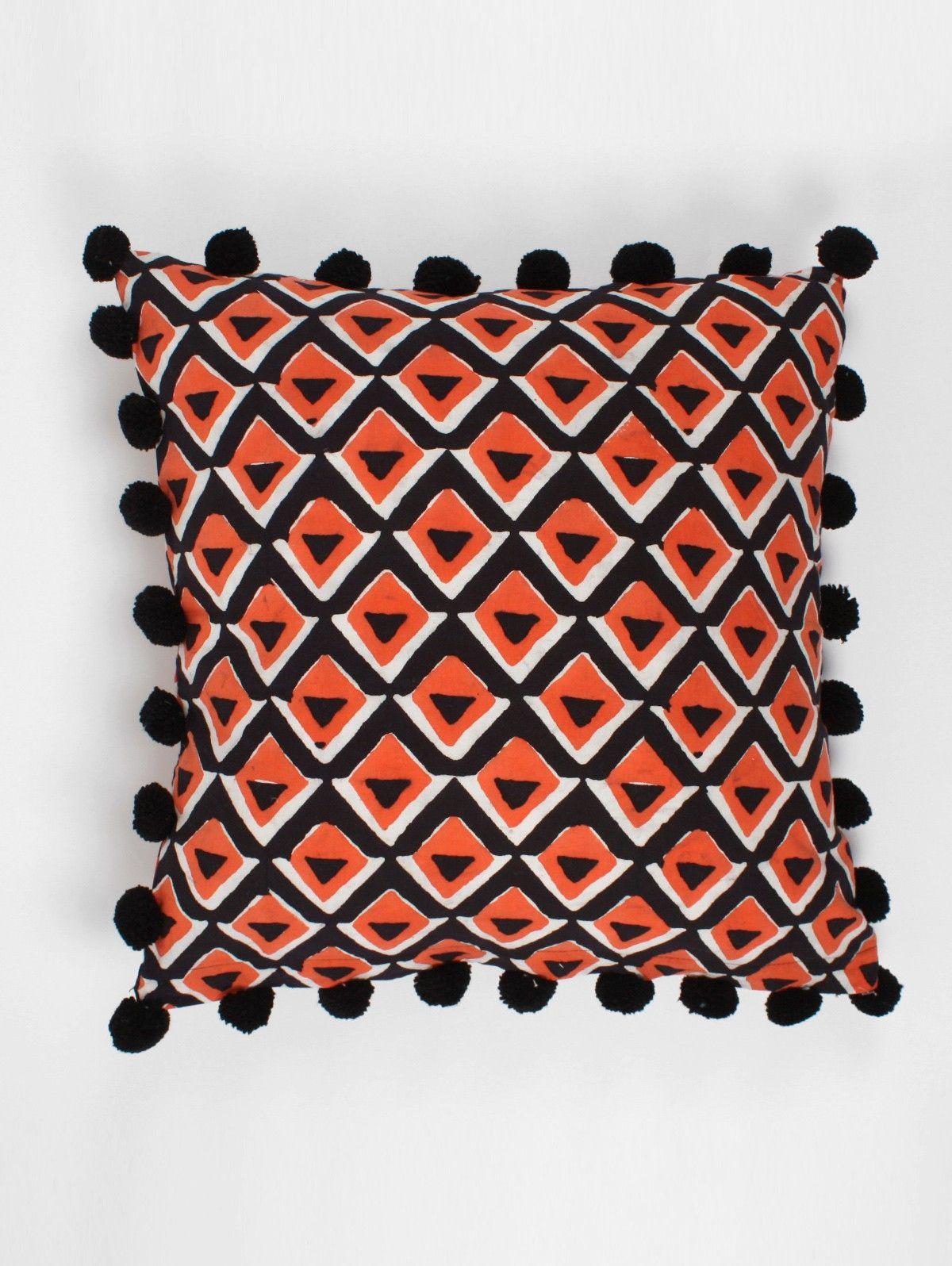 Bohemia-Cushion-Pom-Pom-Geo-Orange