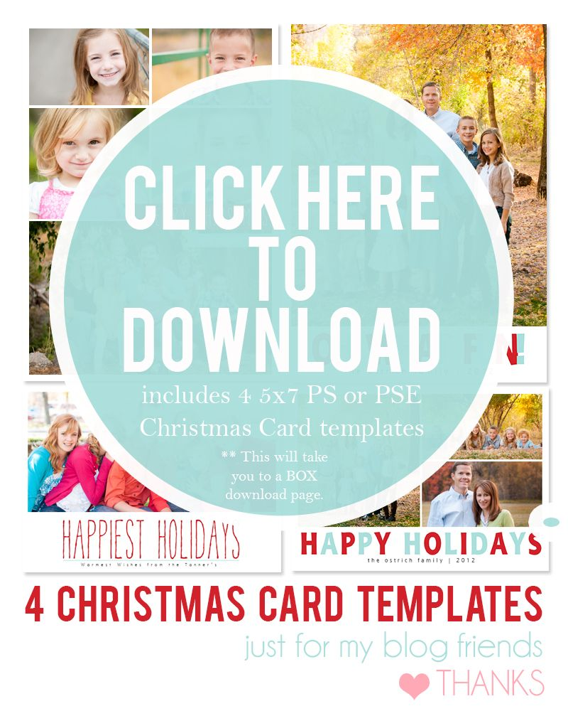 Downloadable Christmas Card Templates for photos | ... Free 2012 ...