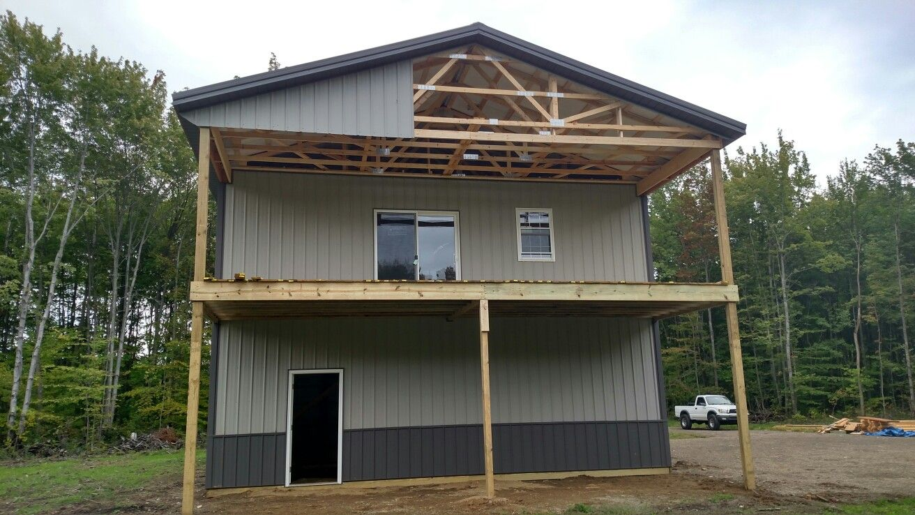 30 X 54 Two Story Pole Barn