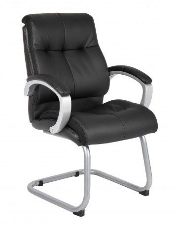 Boss Office Products B8779s Bk Double Plush Executive Guest Chair