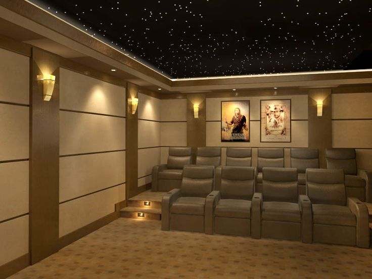 Home Theater Featuring A Chicago Sports Theme On Acoustic Panels