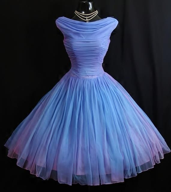 Periwinkle tulle dress (via Vintage Vortex, Etsy)