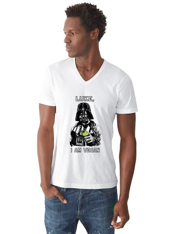 Luke, I am vegan V-Neck Tee-Shirt (Men)