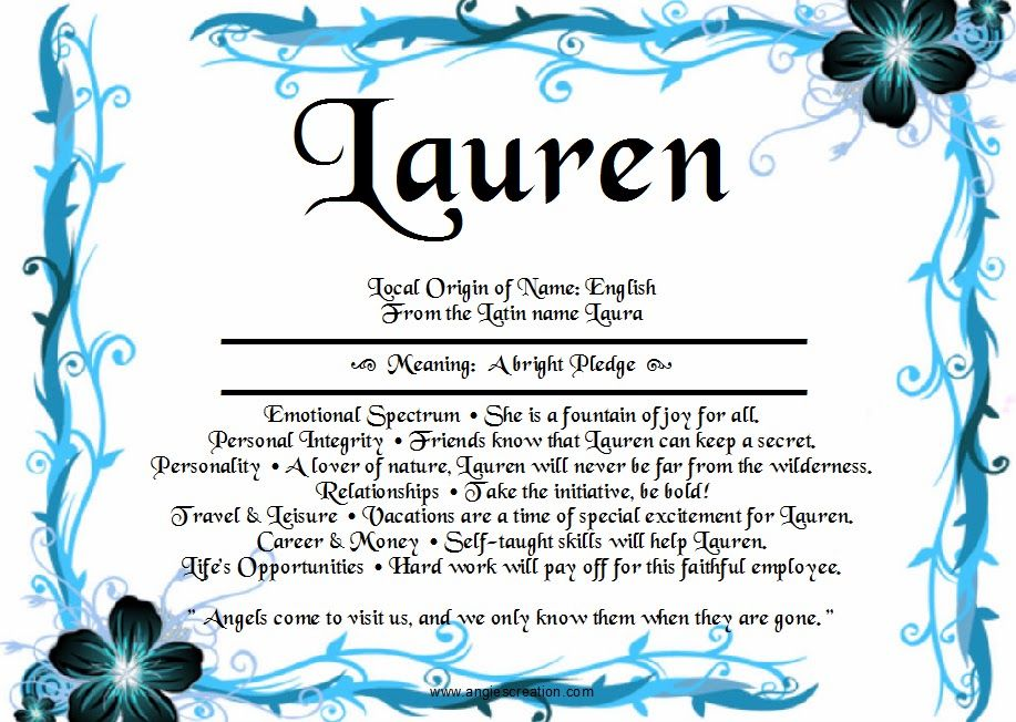 Pin By Lauren Wareing On Names Their Meanings Names With Meaning Names Laurens Name
