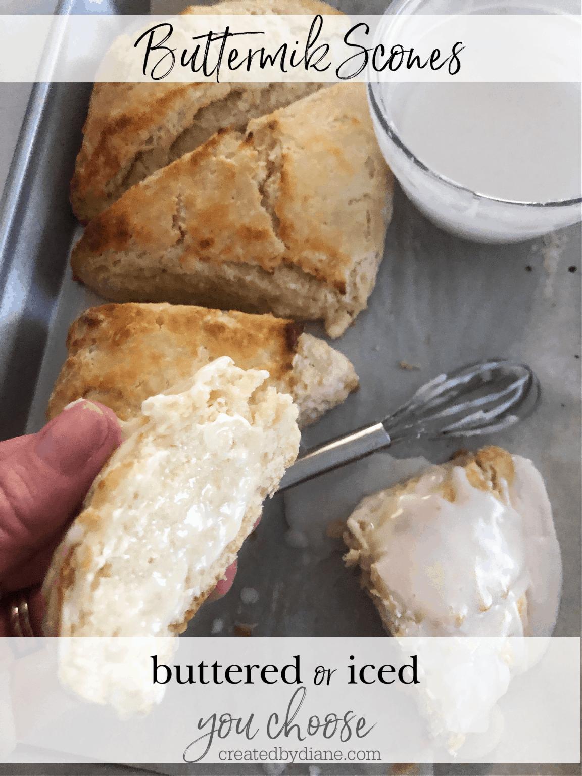 Buttermilk Scones Buttered Or Iced Sliced Open And Buttered Scones Iced On Top Buttermilk Scone Small Batch 4 Scone Recipe Creat In 2020 Scones Recipes Scone Recipe