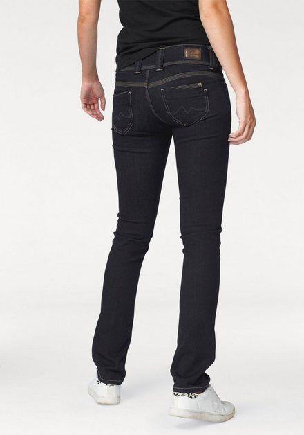 Straight-Jeans »VENUS« mit breitem 2-Knopf-Bund #jeansplus
