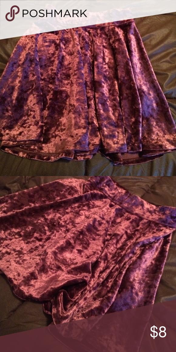 Purple velvet material hollister skirt Good condition Hollister skirt Hollister Skirts Mini