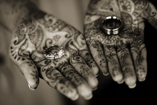 rings I like the idea of maybe not as much ad this but Henna at the wwedding