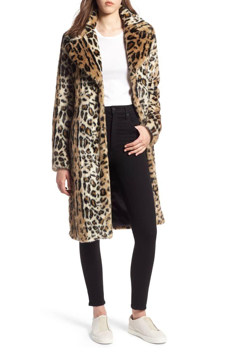 5b1eedc2527a Leopard Faux Fur Coat, Main, color, LEOPARD | Style | Fur Coat, Fur ...