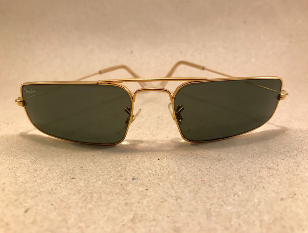 2baf2211ac Vintage Ray Ban Fugitives Metal Square W1957 G15 B L Bausch Lomb USA ...