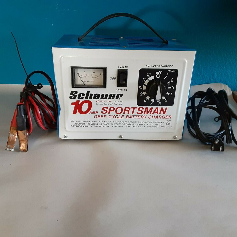 Schauer Sportsman 10 Amp Deep Cycle Battery Charger Ct7612 Made In Usa Schauer Deep Cycle Battery Battery Charger Cycle
