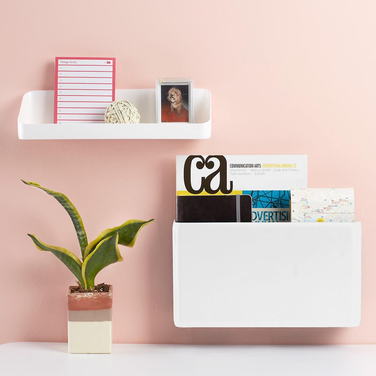 White Poppin Magnetic Wall File Pocket Wall File Office Wall Organization Wall Organization