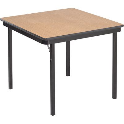 Amtab Manufacturing Corporation Square Folding Table Card Table Chairs Table Wood Folding Table