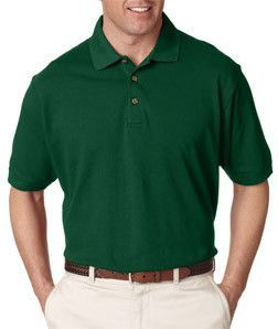 8535 UltraClub Men's Classic Piqué Polo Forest Green