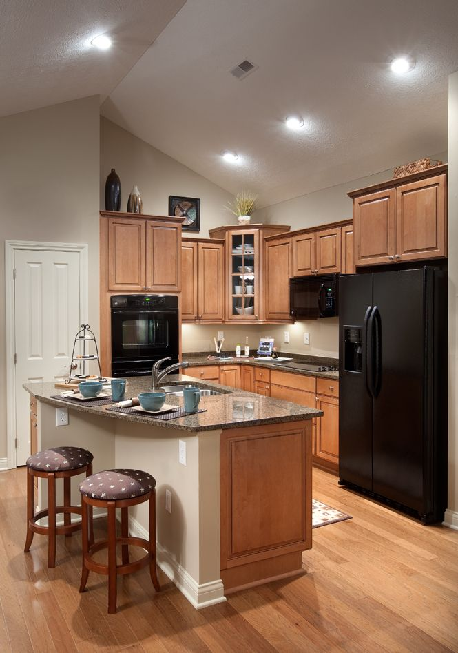 deluxe kitchen with center island white stainless steel or black appliances are available on kitchen remodel appliances id=78610