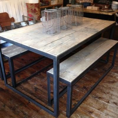 Angle Iron Table | living/dining room | Pinterest | Iron ...