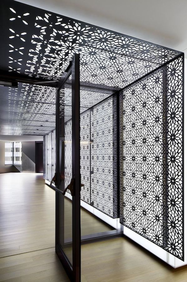 Modern Architecture Room divider screen, Divider screen and Black