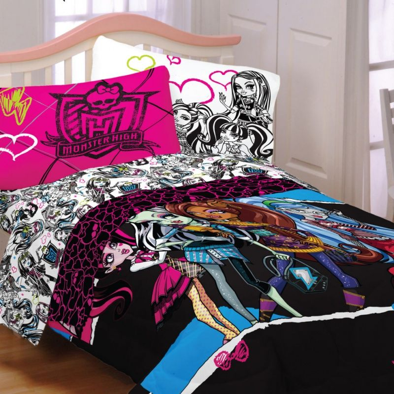 24.95 & 34.95 Monster High Bedding Ghouls Rule -twin Size Chloe 9 Yr