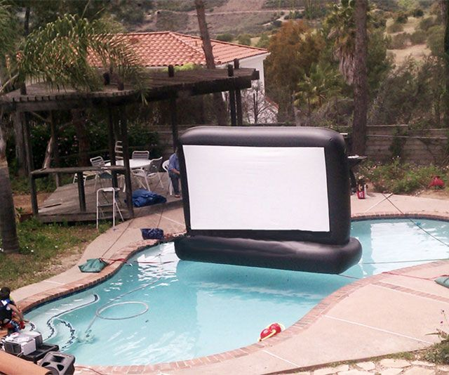 Inflatable Floating Movie Screen Swimming Pools Backyard Pool Toys Swimming Pools