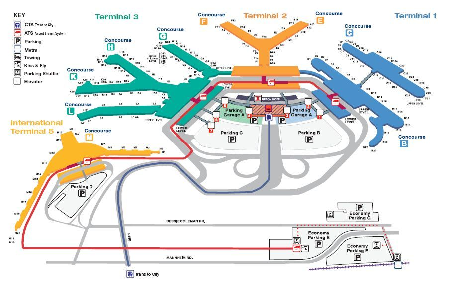 Chicago O Hare Terminal Map O'Hare International Airport | Chicago Illinois in 2019 | Ohare  Chicago O Hare Terminal Map