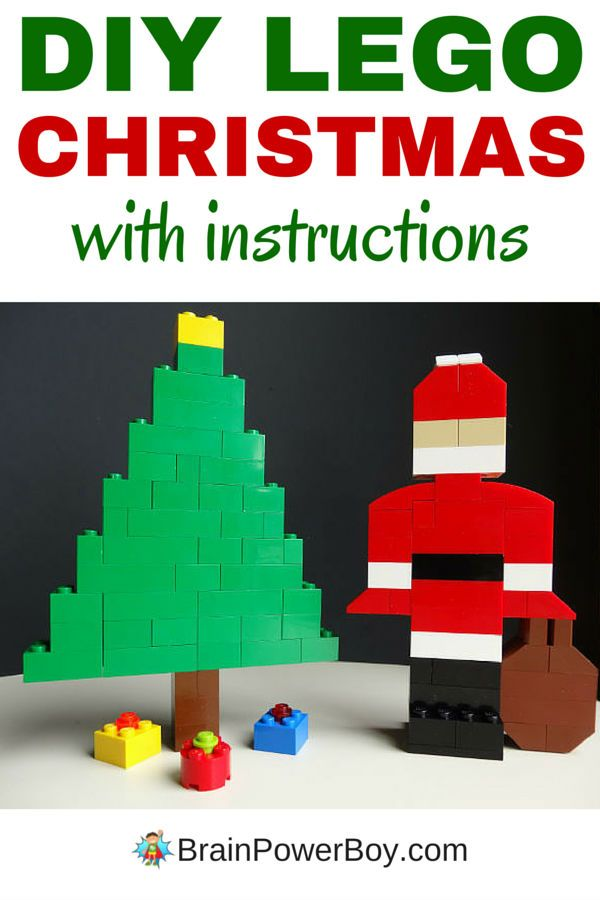 Fun Easy To Make Lego Christmas Scene Pinterest Lego Christmas