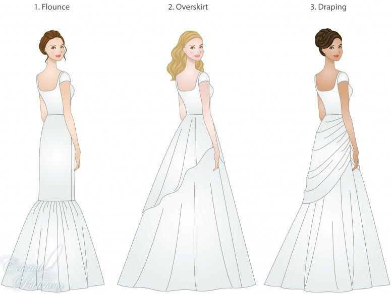 Fashion Amp Stylemerle 7 Different Types Of Wedding Dress Trains Regarding Elegant Different Ty Gaun Pengiring Pengantin Desainer Busana Pakaian Perkawinan