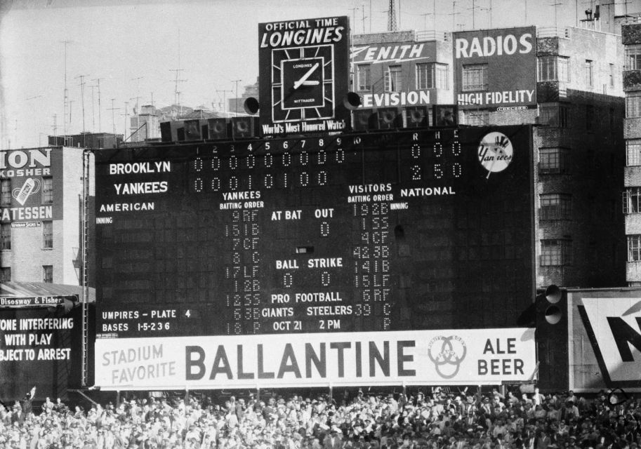 Oct. 8, 1956 Don Larsen's perfect game (With images