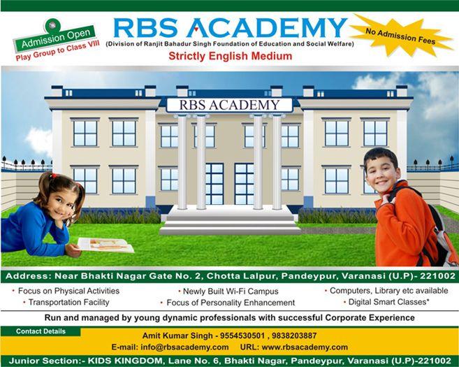 Rbs Academy Strictly English Medium School Opening In Varanasi