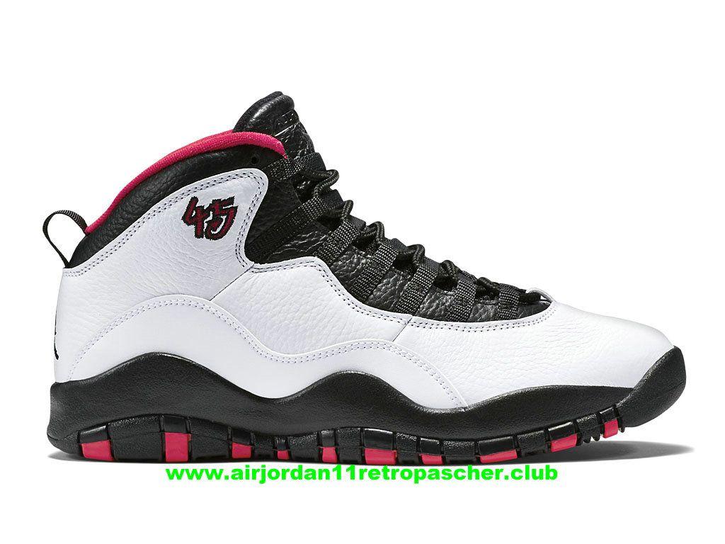 Chausssures De BasketBall Air Jordan X/10 Retro Chicago Prix Homme Pas Cher  Blanc/