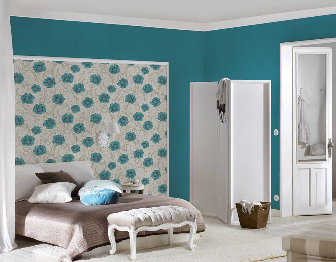 Combina Papel Pintado Y Pintura En Una Misma Habitacion