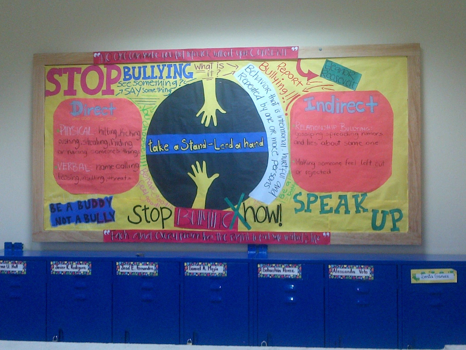 Anti Bullying Bulletin Board Made By Msru And Me