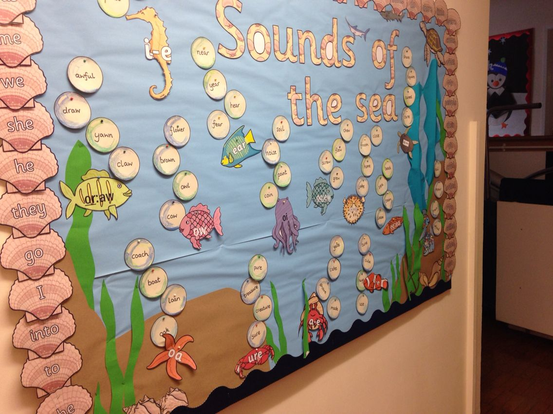 Sounds of the sea phonics display bulletin board