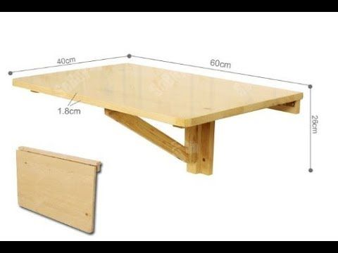 Diy How To Make Wall Mount Folding Desk With Step By