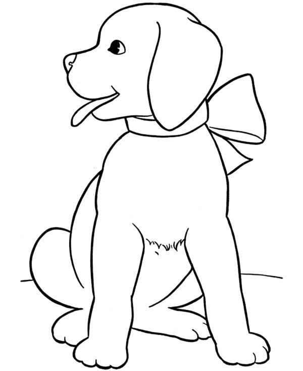Sweet Puppy Easter Coloring Pages For Kids