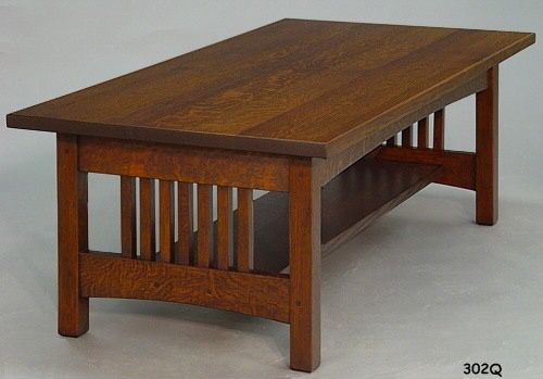 Panel Spindle Coffee Table Coffee Table Mission Style