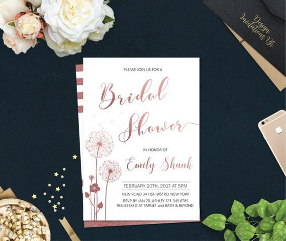 Bridal Shower Invitation Template, Bridal Shower Invitation - bridal shower invitation templates