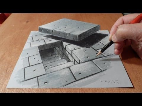 3d Drawing Tunnel Stairs Anamorphic Illusion Time Lapse Youtube