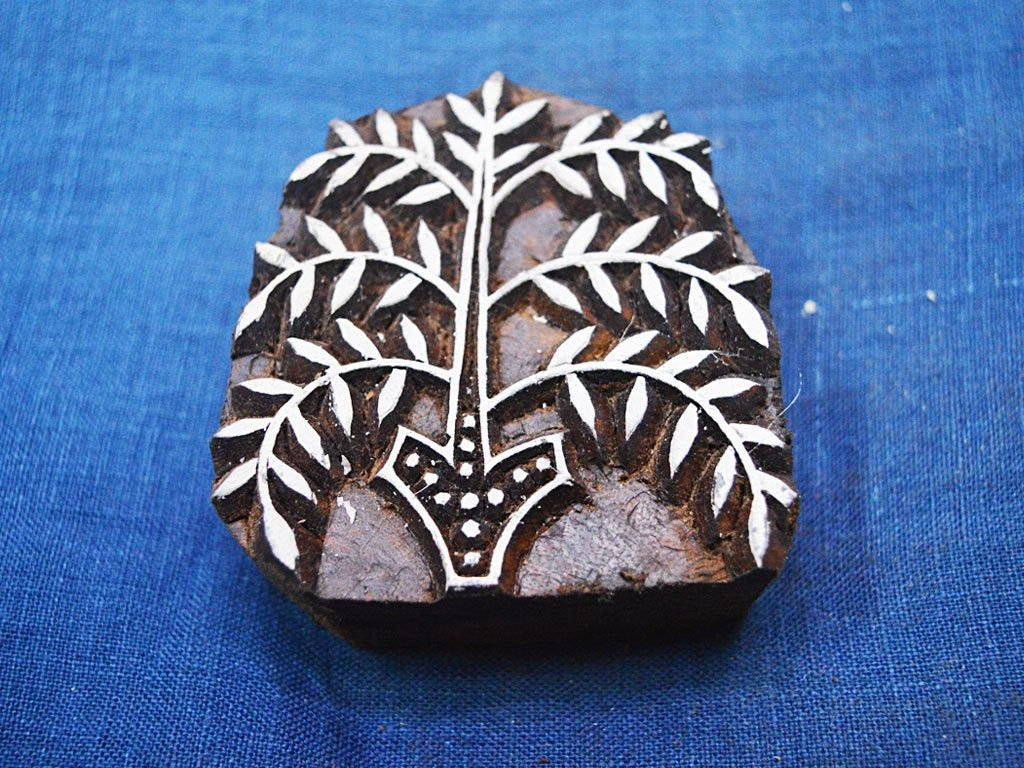 Printing Graphic Essentials Indian Wooden Printing Blocks Textile Stamps Leaf Handcarved Print Crafts Fabric Business Office Industrial Supplies Union Cs Co Jp