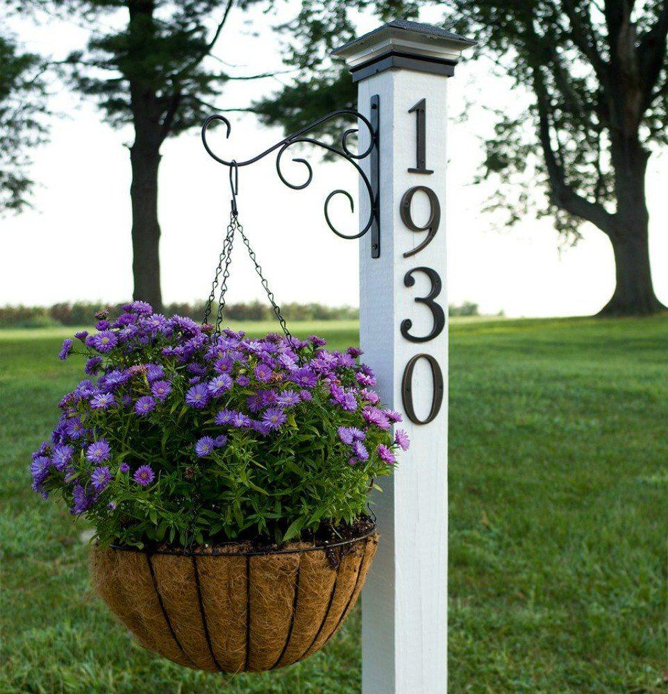 Garage Door Landscaping Ideas: 11 Address Sign Ideas That'll Make Neighbors Stop In
