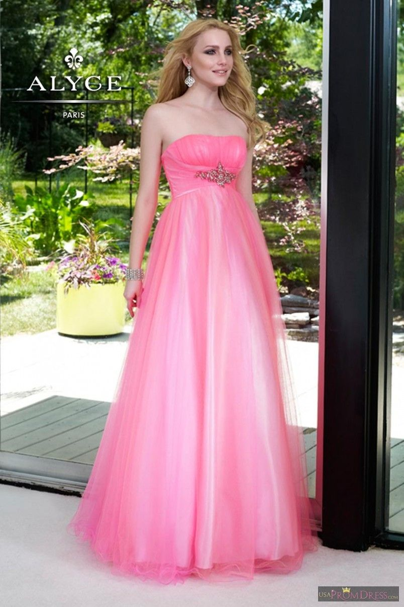 Alyce Paris Prom Dress 6099 - Pink tulle gown. Perfect for Prom ...
