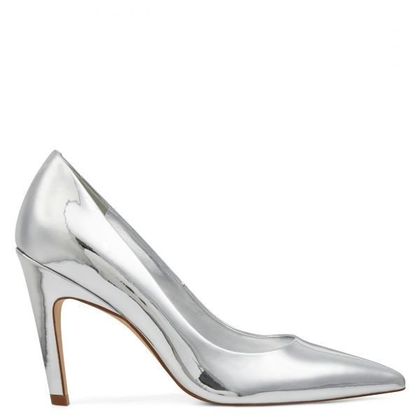 Quintrell Pointy Toe Pumps Silver Patent Nine West Shoes For Women Nine West Handbags For Women Pointy Toe Pumps Nine West Shoes