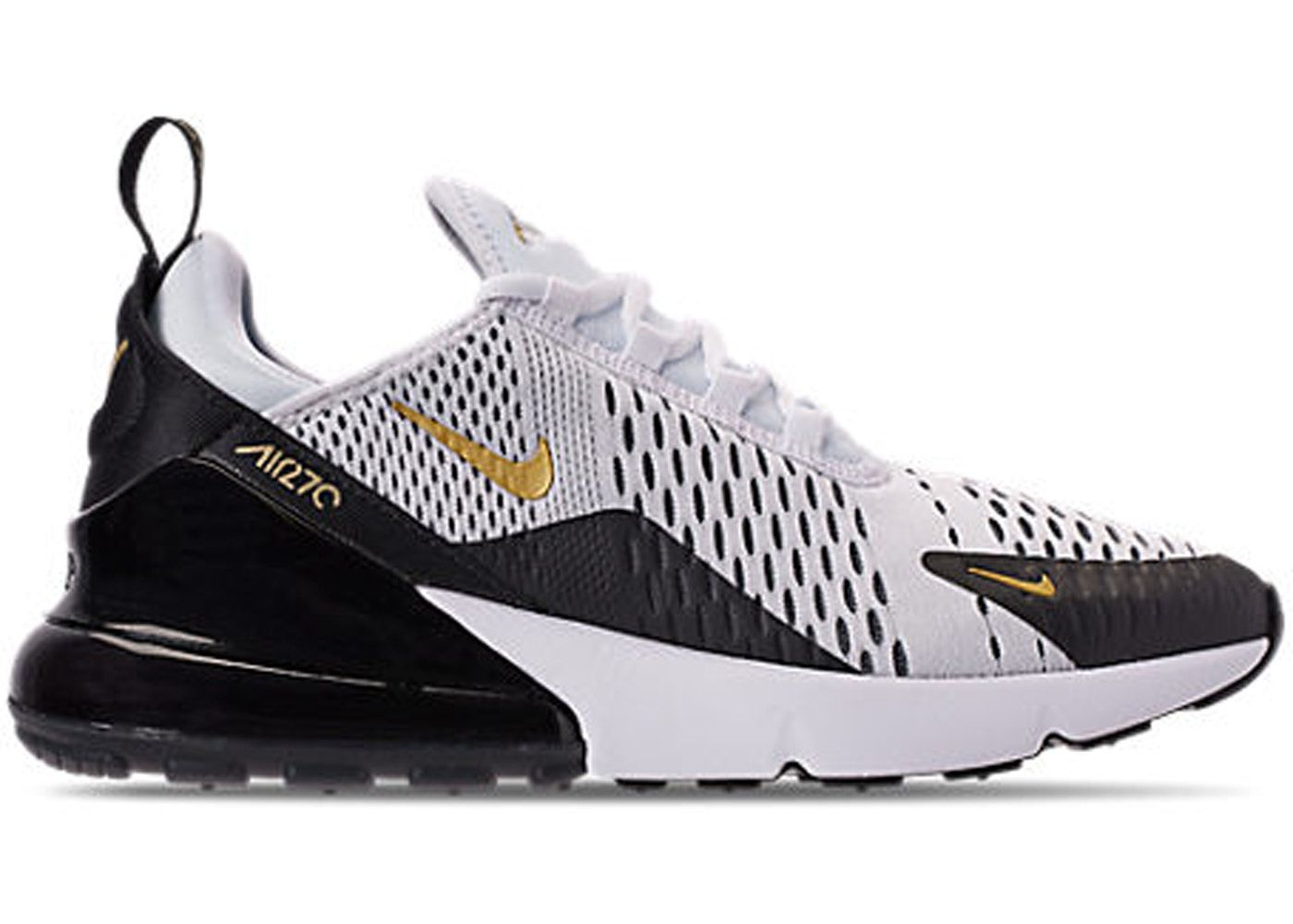 Check out the Air Max 270 White Metallic Gold Black available on StockX 702465ce6610