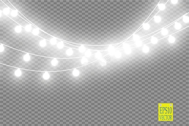 Christmas Lights Isolated On Transparent Background Christmas Lights Transparent Background Transparent