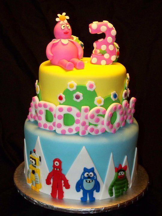 Excellent Yo Gabba Gabba Cake With Images Zebra Birthday Cakes Cake Funny Birthday Cards Online Elaedamsfinfo