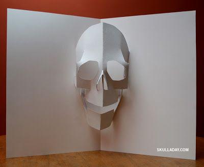 Halloween Pop Up Cards Templates.Skull A Day 343 Pop Up Skull Craft Ideas Pop Up Card