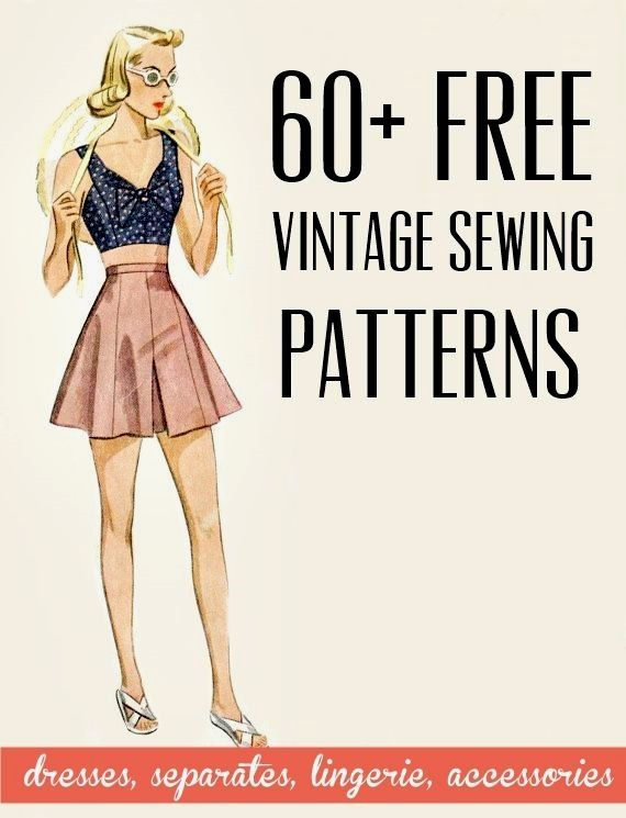 Photo of FREE VINTAGE SEWING PATTERNS